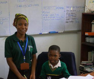 GEP Student Asna & GEP Coordinator Rehema - 2019