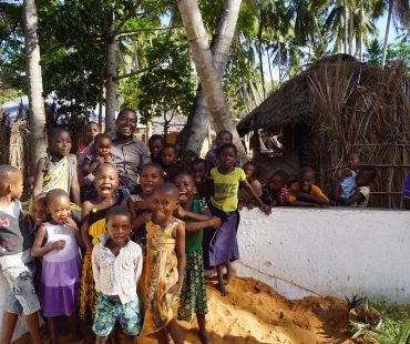Children w/ PM Emma Mwambe - Haikata Well